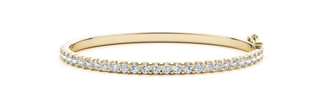 14kt Yellow Gold Diamond Cuff Bangle Bracelet - Dia. 2.75ct