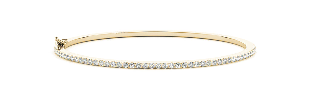 14kt Yellow Gold Diamond Cuff Bangle Bracelet - Dia.50ct