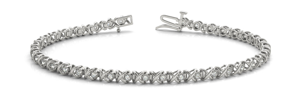 14kt Gold Diamond Tennis Bracelet - Dia .40ct