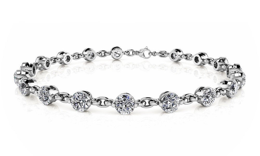 14kt Gold Diamond Tennis Bracelet - Dia. 2.30ct