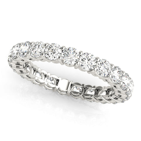 Ladies Common Prong Diamond Eternity Ring with Airline - Dia. 1.75ct