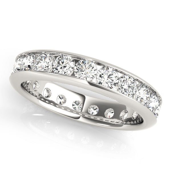 Ladies Channel Set Diamond Eternity Ring - Diamond 1ct