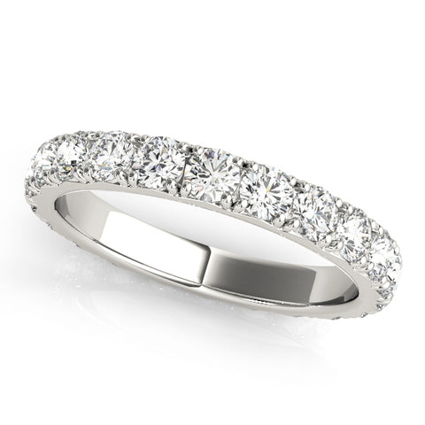 Ladies 'French Cut' Diamond Eternity Ring - Diamond 1ct