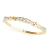 14kt Gold Stackable Ring with Diamonds