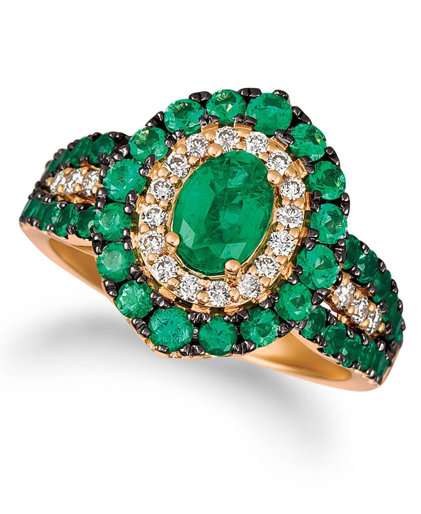 Le Vian Costa Smeralda Emeralds™ (1 5/8 ct. t.w.) and Nude Diamonds™ (1/4 ct. t.w.) Ring in 14k Rose Gold