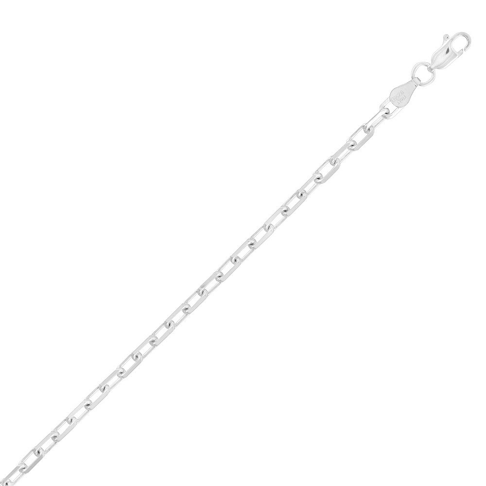 Sterling Silver 3.5mm Anchor Chain - Silver Plated