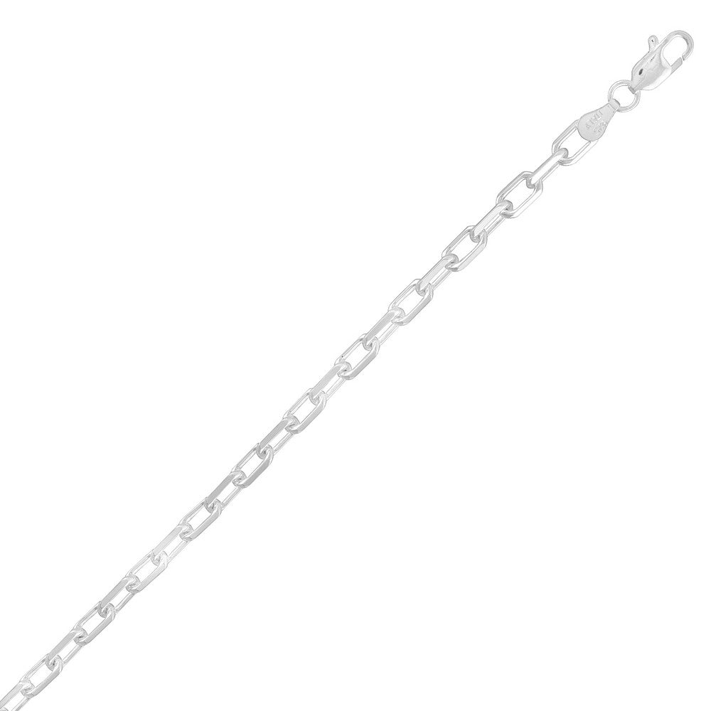 Sterling Silver 4mm Anchor Chain - Silver Plated
