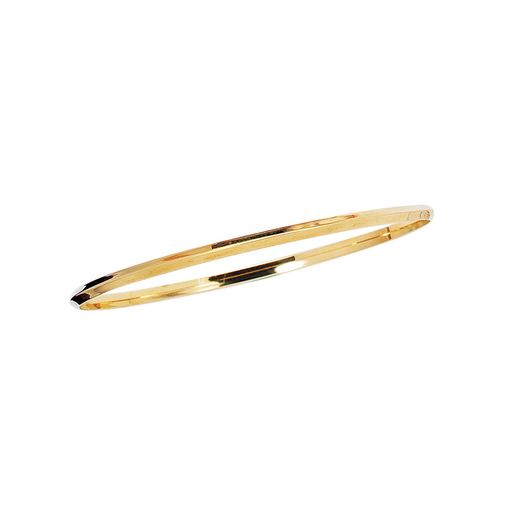 14kt 8 inches Yellow Gold 2.75mm Shiny Round Stackable Bangle