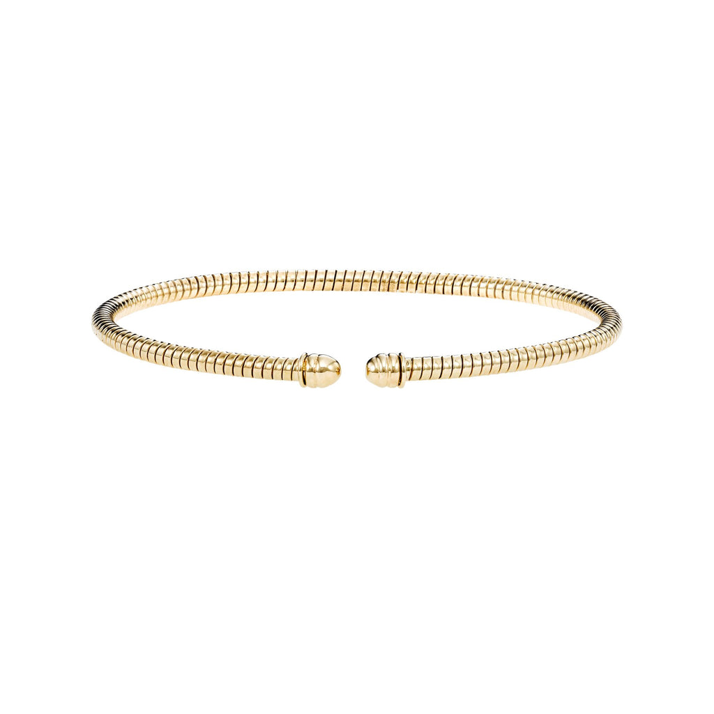 14kt Gold 7 inches Yellow Finish 3mm Bangle