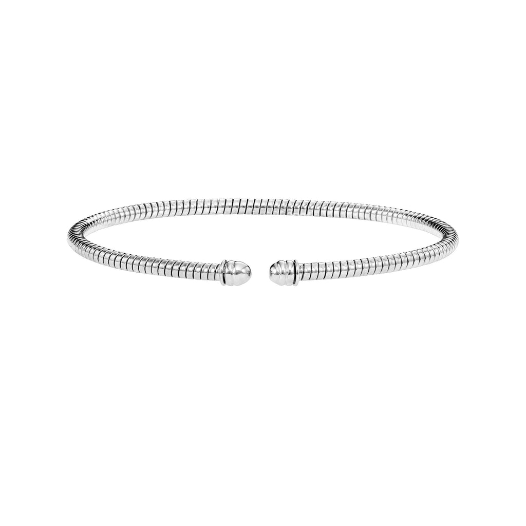 14kt Gold 7 inches White Finish 3mm Bangle