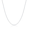 Sterling Silver 1.2mm Box Chain - Silver Plated