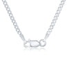 Sterling Silver 2MM Cuban Chain - Silver Plated