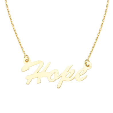 14kt Yellow Gold 'Hope' Necklace