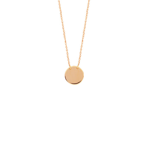 Copy of 14kt Rose Gold Engraveable Disc - 9mm