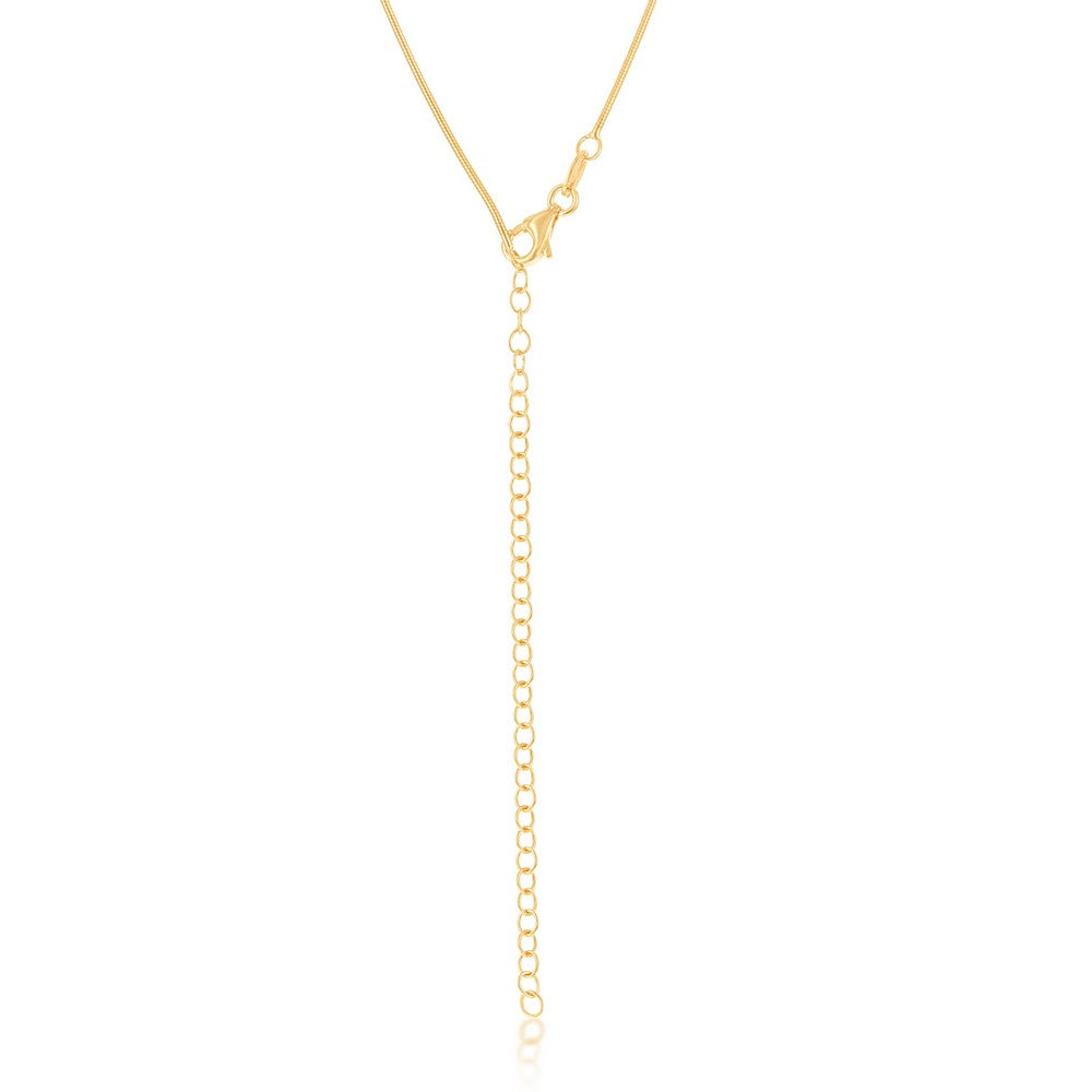 Sterling Silver 1mm Snake Chain - Gold Plated