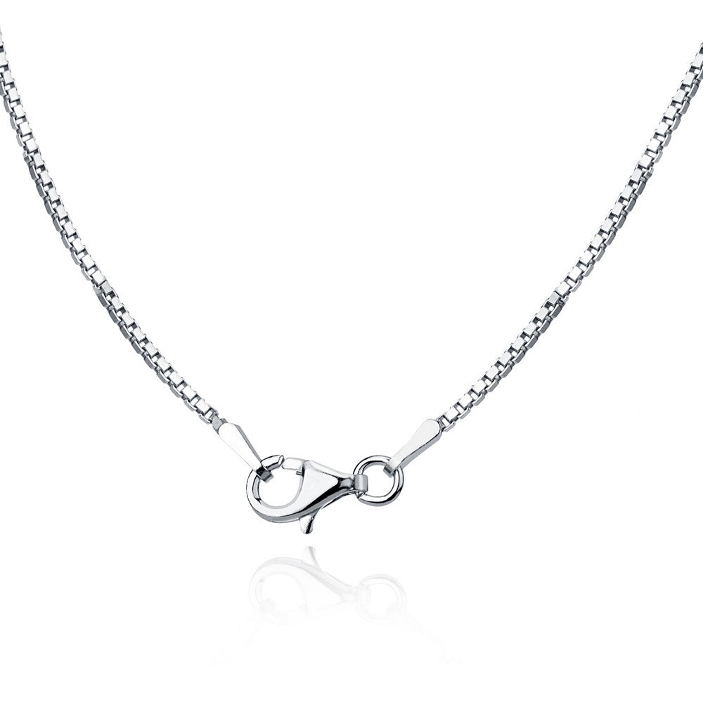 Sterling Silver 1.0mm Rhodium Box Chain - Rhodium Plated