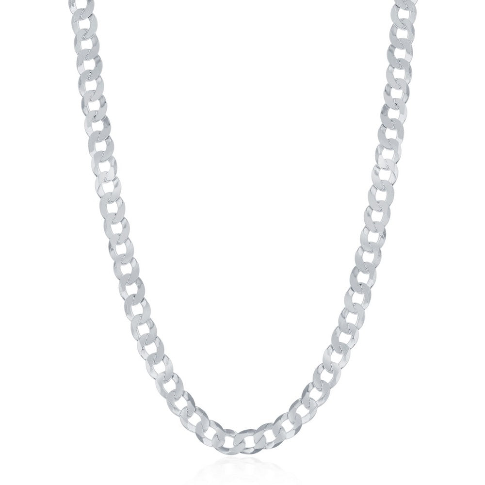 Sterling Silver 3.45mm Cuban Chain - Rhodium Plated