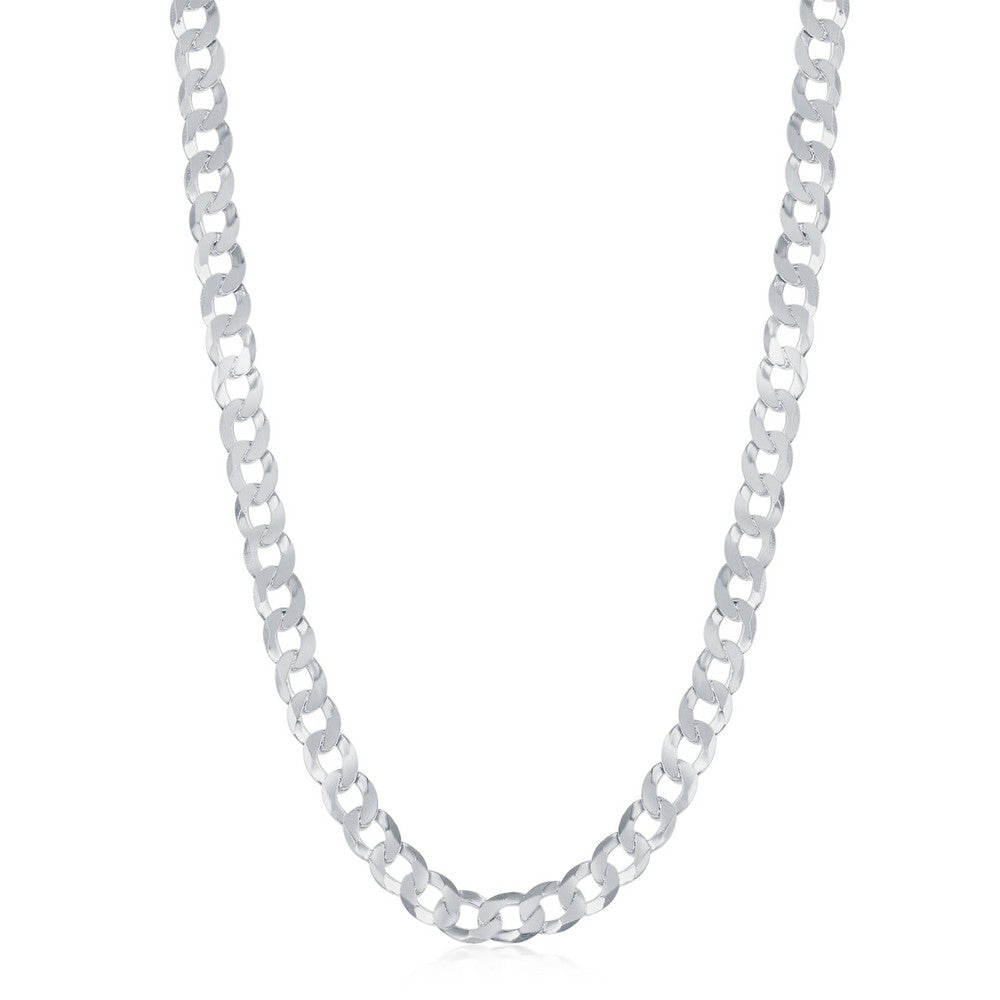 Sterling Silver 4.4mm Cuban Chain - Rhodium Plated