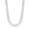 Sterling Silver 6.25mm Cuban Chain - Rhodium Plated