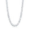 Sterling Silver 7.85mm Cuban Chain - Rhodium Plated