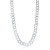 Sterling Silver 9.2mm Cuban Chain - Rhodium Plated