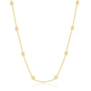Sterling Silver Grid Square Beaded Chain - Gold Plated