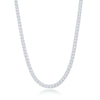 Sterling Silver 3mm Franco Chain (100 Gauge) - Rhodium Plated