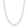 Sterling Silver 4mm Franco Chain (120 Gauge) - Rhodium Plated