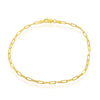 Sterling Silver 2.8mm Paper Clip Linked Chain - Gold Plated