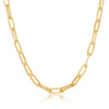 Sterling Silver 3.2mm Paper Clip Chain - Gold Plated