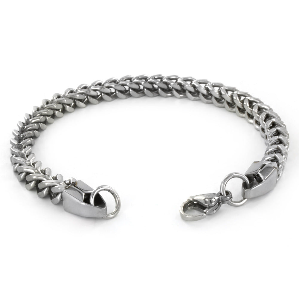Stainless Steel Franco Chain Bracelet