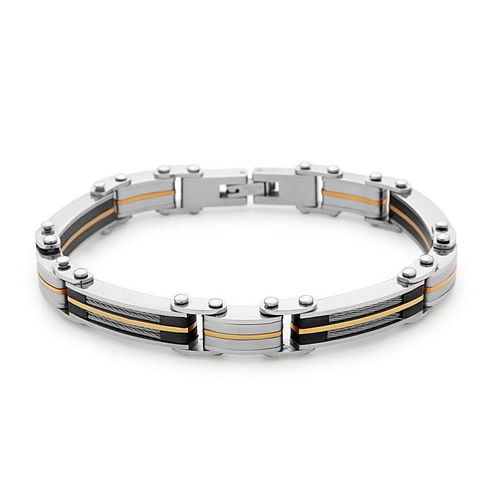Stainless Steel Cable and GP Links Bracelet