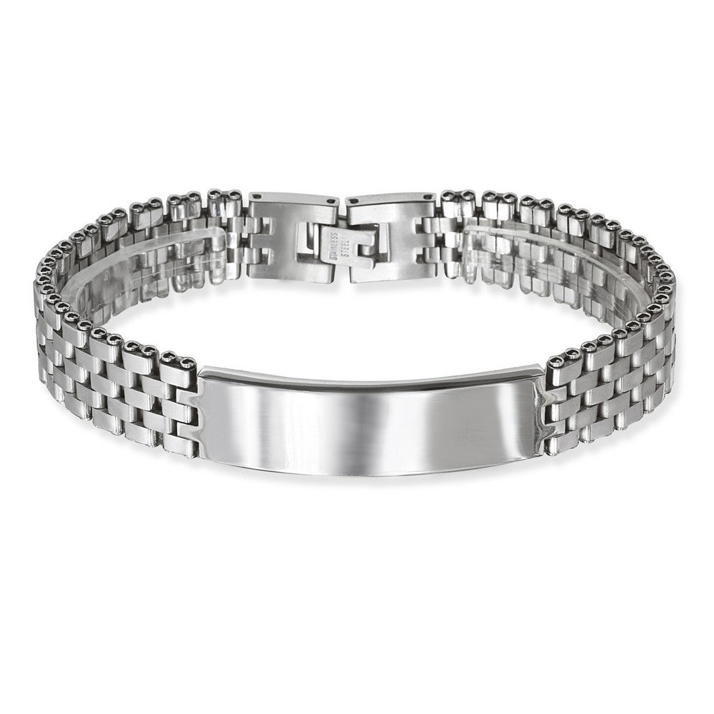Stainless Steel Watch Style with Bar Bracelet