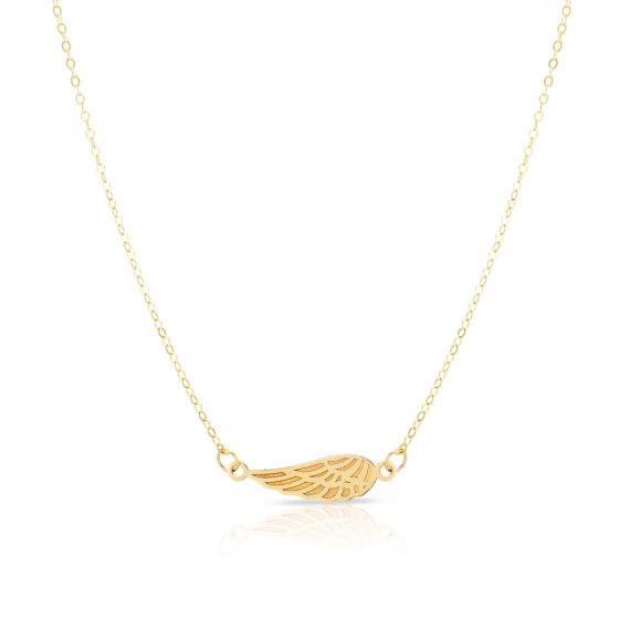 14kt Yellow Gold Angel Wing Necklace