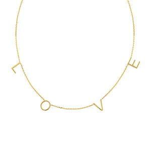 14kt Yellow Gold 'LOVE' Necklace