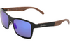 Titanium & Rosewood Polarized Sunglasses with Blue Lenses