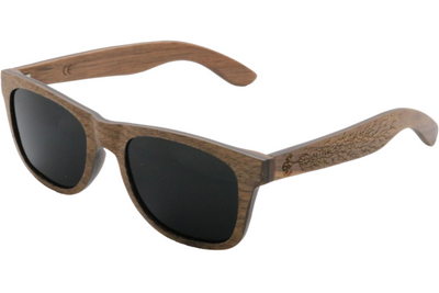 Dark Walnut Wood Sunglasses with Polarized Lenses
