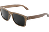 Dark Red Oak Frame Sunglasses with Polarized Lenses