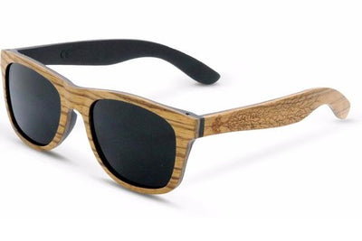 Tan Zebra Wood Sunglasses