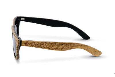 Wood sunglasses, Zebra wood sunglasses, zebra sunglasses, Silver wood sunglasses, polarized wood sunglasses, Shadetree sunglasses