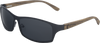 Obsidian Black Titanium & Zebrawood Sunglasses with Polarized Lenses