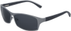 Steel Grey Titanium & Real Ebony Wood Sunglasses with Polarized Lenses