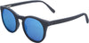 Ebony Wood Sunglasses with Ice Blue Polarized Lenses