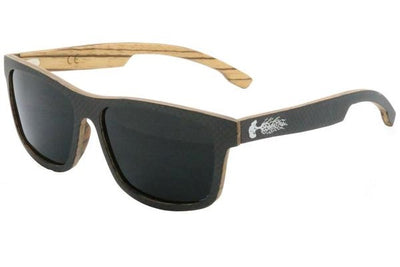 Polarized Carbon Fiber & Zebra Wood Sunglasses for Sale