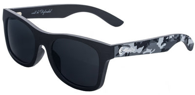 Winter Camo Wood Sunglasses with Polarized Lenses