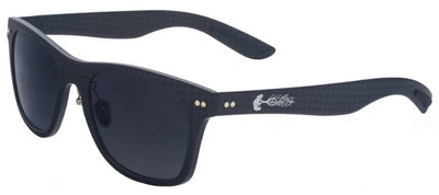 Solid Carbon Fiber Sunglasses with Grey Gradient Lenses