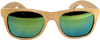 Shadetree sunglasses, Wood sunglasses, Bamboo sunglasses, polarized sunglasses, Classic Tropical beech sunglasses, green lenses, wood sunglasses