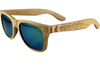 Tropical Beech Wood Wayfarer Sunglasses with Polarized Lenses