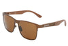Bronze Titanium & Red Rosewood Sunglasses with Polarized Lenses