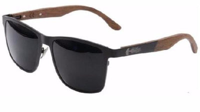 Black Titanium Frame & Black Walnut Wood Sunglasses with Polarized Lenses